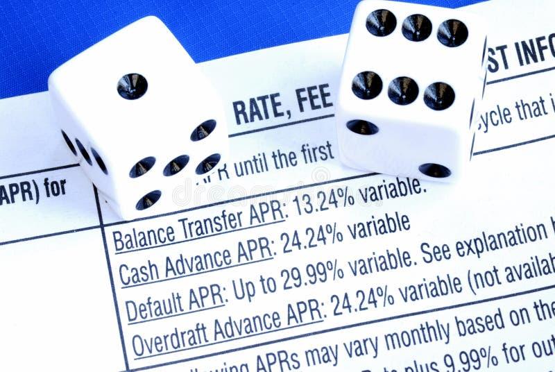 Borrow geld van een creditcard stock afbeelding