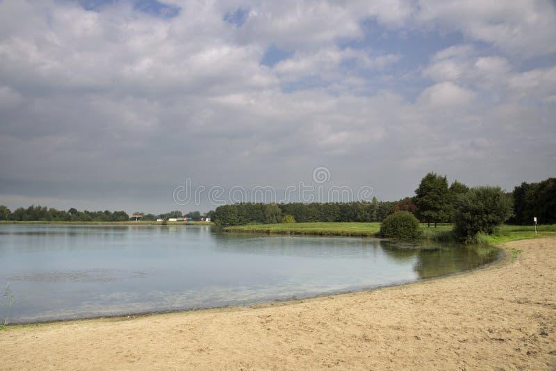 Borrow kuil dichtbij Herwijnen stock fotografie