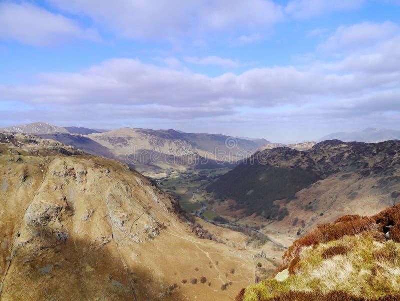 Borrowdale, Meerdistrict van Eagle Crag royalty-vrije stock afbeelding