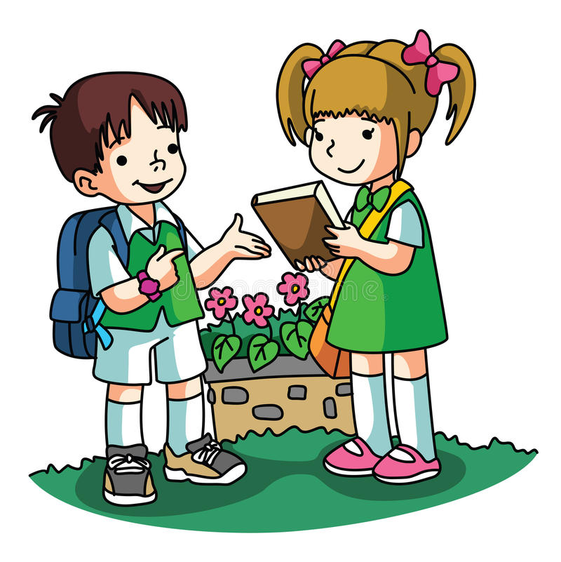 Borrowing books stock vector. Illustration of clipart ...