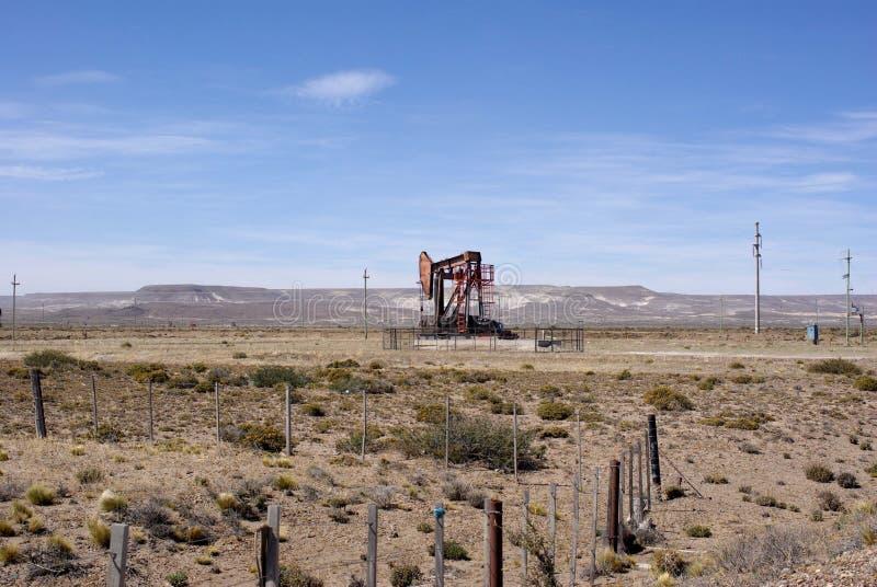 Borrtorn i Patagonia arkivbild