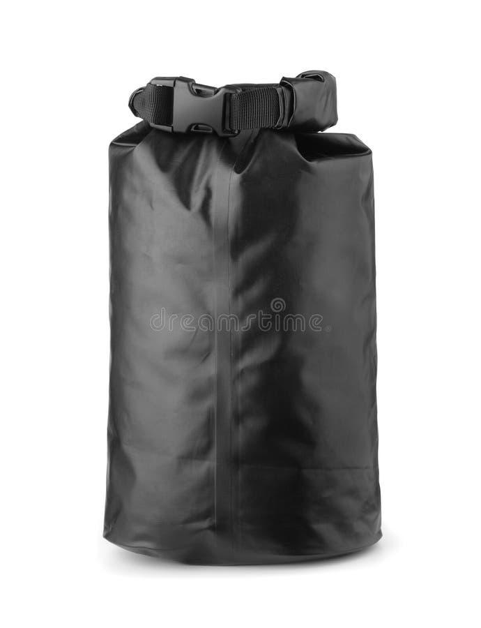 Borsa asciutta impermeabile di plastica nera immagine stock libera da diritti