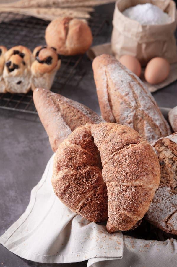 Borsa casalinga della farina delle uova del pane immagine stock libera da diritti