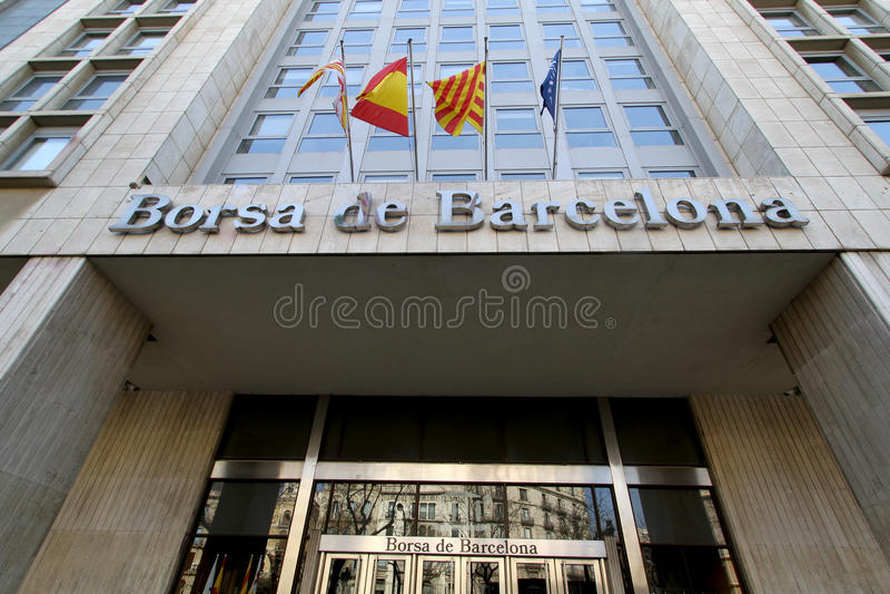 Borsa de Βαρκελώνη στοκ εικόνα