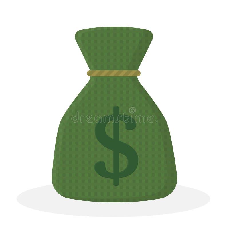 Borsa dei soldi di vettore Sacco con i dollari Salvo soldi royalty illustrazione gratis