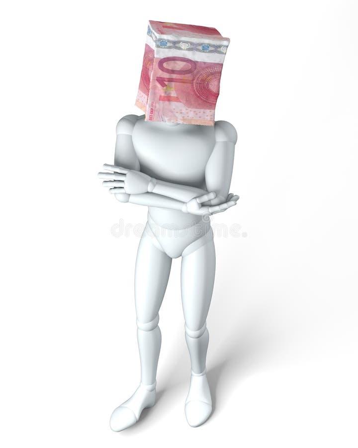 Borsa dell'euro 10 royalty illustrazione gratis