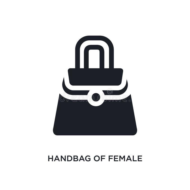 borsa dell'icona isolata femminile illustrazione semplice dell'elemento dalle icone di concetto dell'abbigliamento della donna bo illustrazione di stock