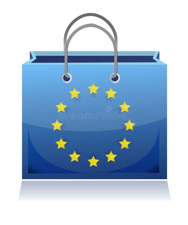 Borsa di acquisto europea royalty illustrazione gratis