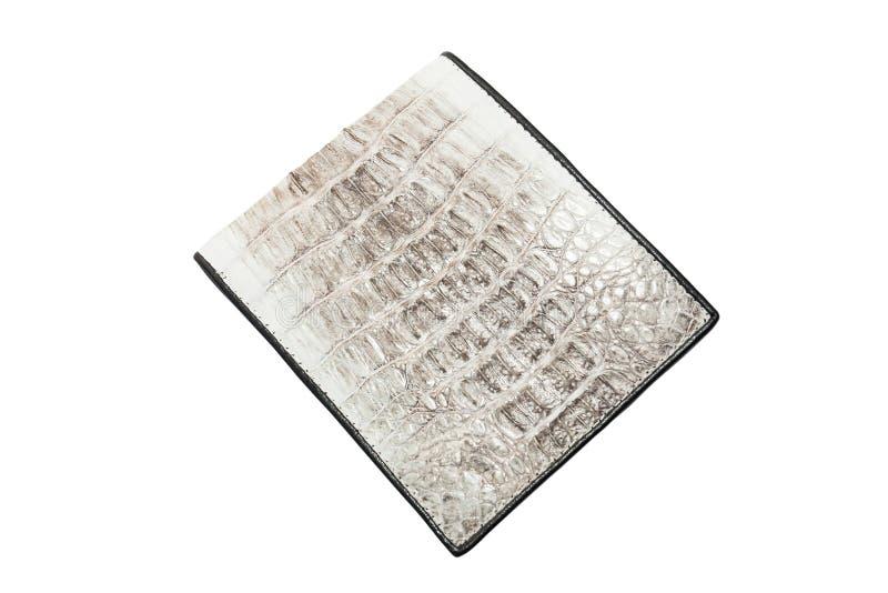 Borsa di cuoio della pelle del coccodrillo immagine stock
