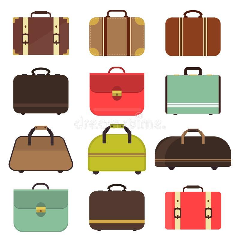 Borsa di cuoio di viaggio illustrazione di stock