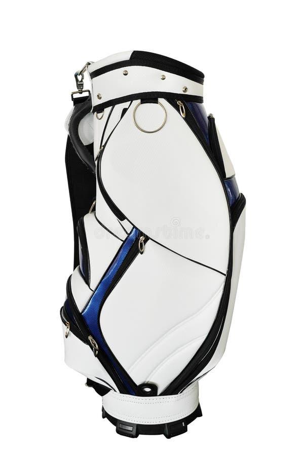borsa di golf bianca senza club di golf immagine stock libera da diritti