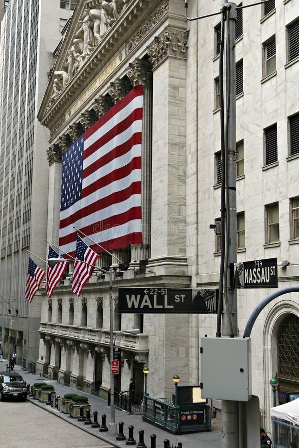 Borsa di New York immagini stock libere da diritti