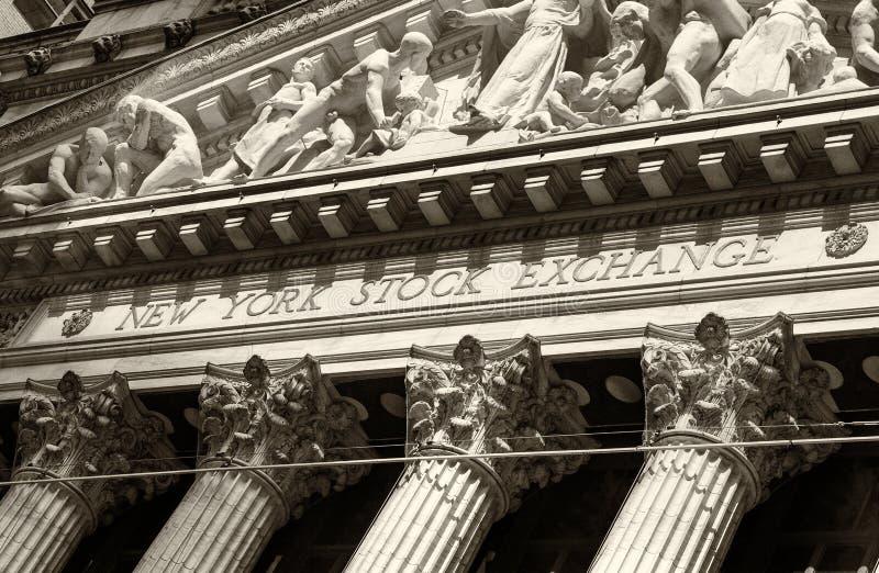 Borsa di New York Wall Street immagine stock libera da diritti