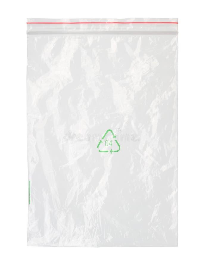 borsa di plastica della chiusura lampo immagine stock libera da diritti