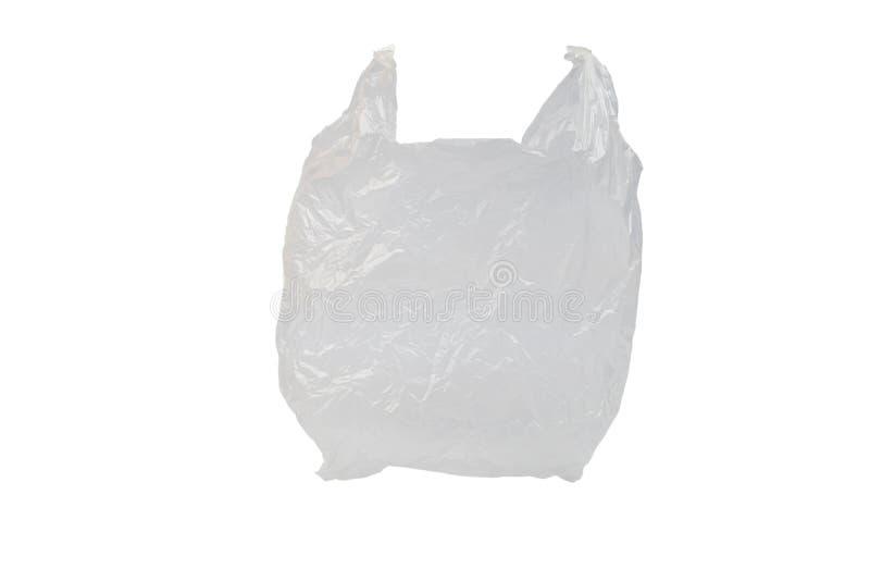 Borsa Di Plastica Isolata Sullo Sfondo Bianco fotografia stock