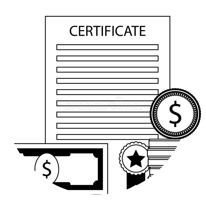 Borsa di studio nell'icona dell'università illustrazione vettoriale