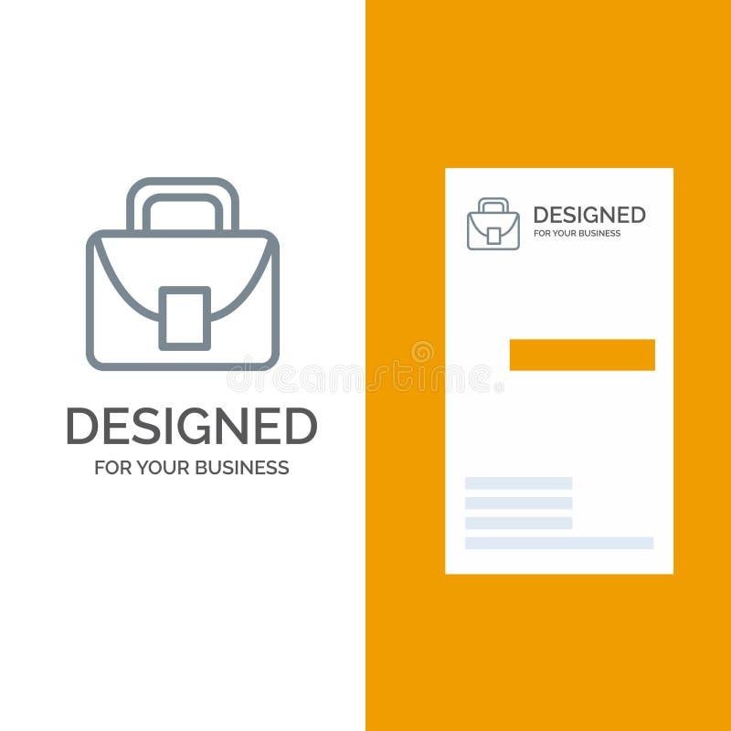 Borsa, Grey Logo Design del lavoratore, e modello logistici e globali del biglietto da visita illustrazione di stock