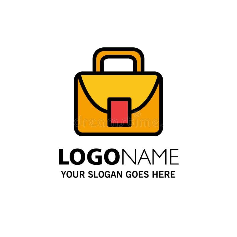 Borsa, lavoratore, affare logistico e globale Logo Template colore piano illustrazione vettoriale
