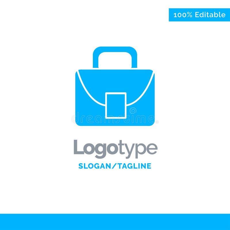Borsa, lavoratore, Logo Template solido blu logistico e globale Posto per il Tagline royalty illustrazione gratis
