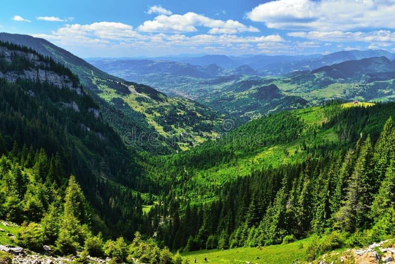 Borsa miasto z mountaind behind zdjęcie royalty free