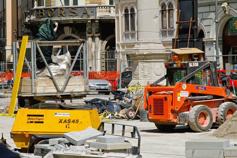 Borsa Trieste Construction stock images