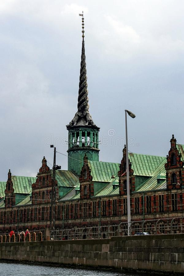 Borsa valori a Copenhaghen fotografia stock libera da diritti