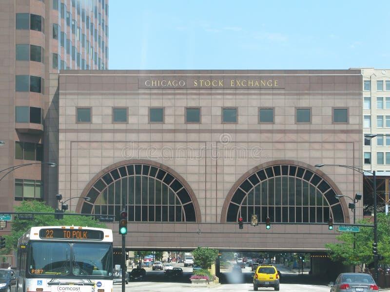 Borsa valori di Chicago immagine stock