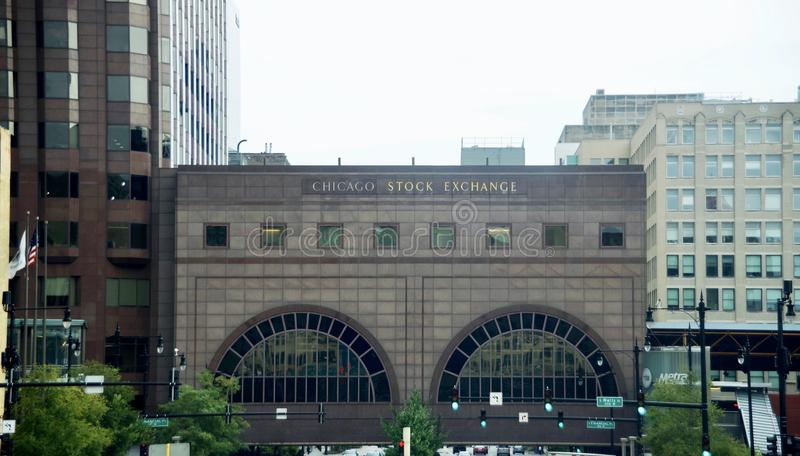 Borsa valori di Chicago, Illinois fotografia stock libera da diritti