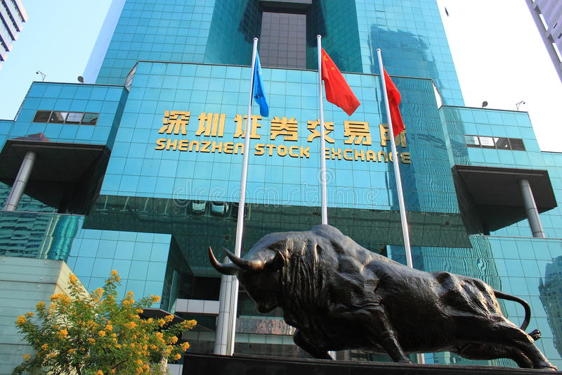 Borsa valori di Shenzhen immagine stock libera da diritti