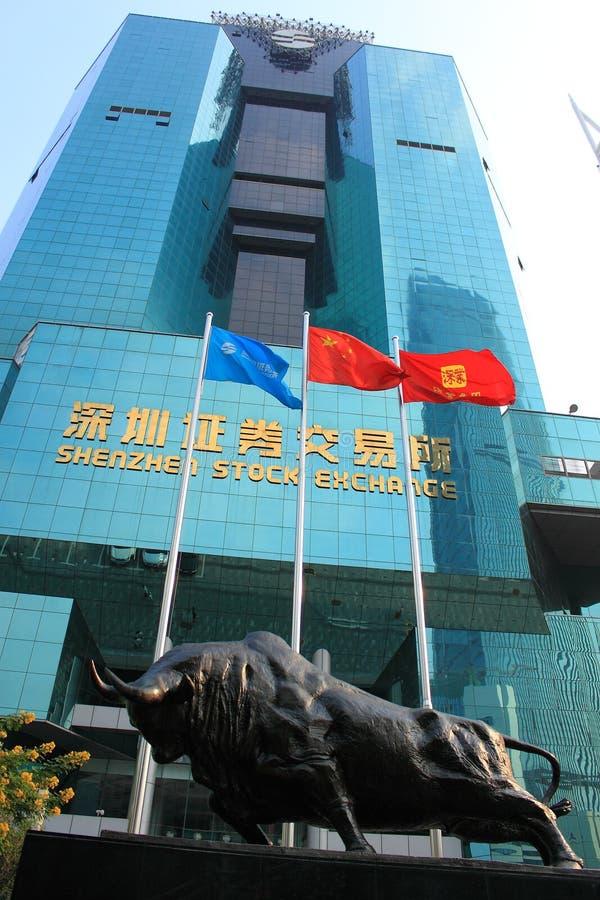 Borsa valori di Shenzhen fotografia stock