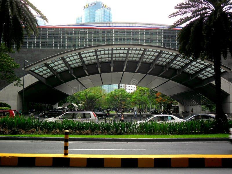 Borsa valori filippina nel viale di ayala, città di makati, Filippine fotografia stock