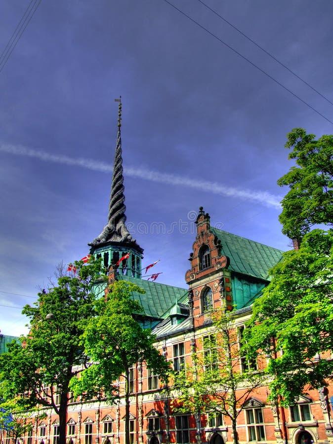 Borsa valori HDR di Copenhaghen immagini stock libere da diritti