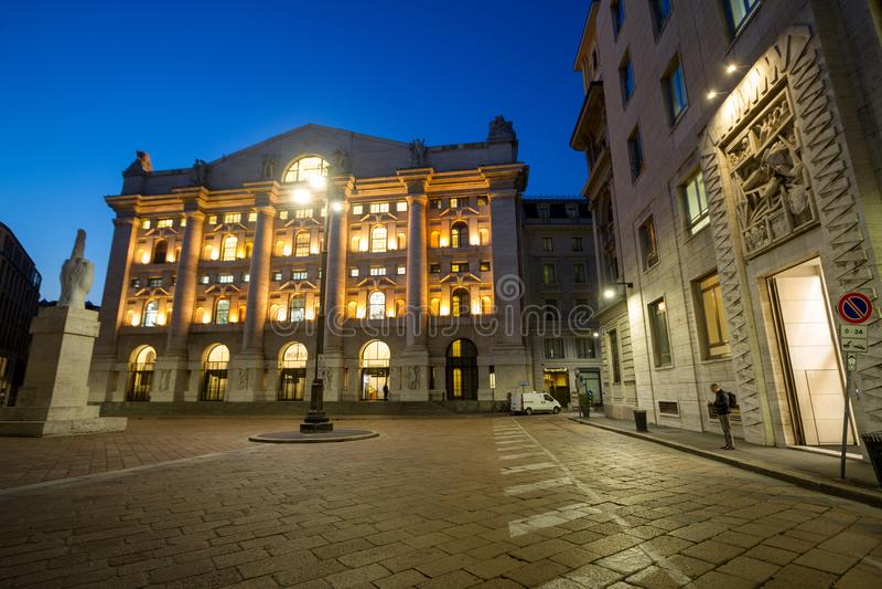 Borsa valori italiana Borsa Italiana a Milano, Italia fotografie stock libere da diritti