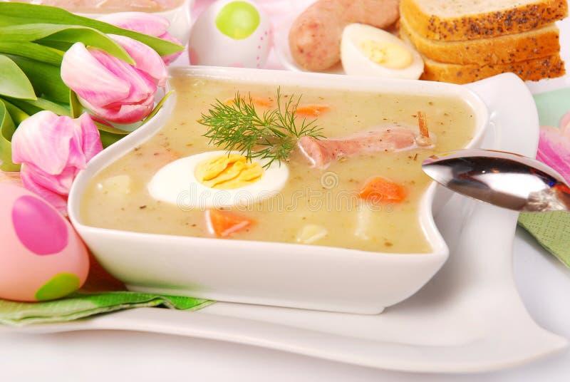 borscht λευκό Πάσχας στοκ εικόνα με δικαίωμα ελεύθερης χρήσης