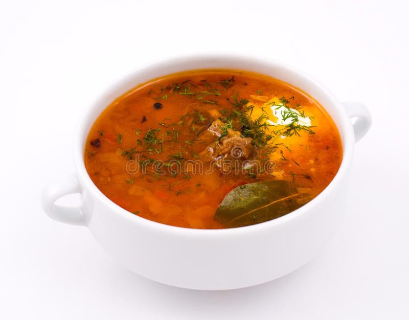 Borscht. A Russian and Polish soup based on beetroot royalty free stock photography