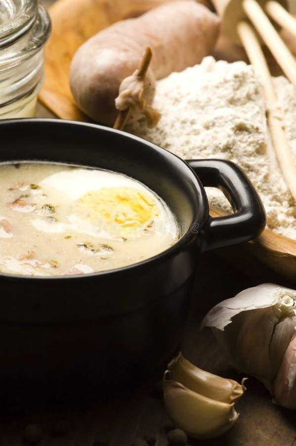 Borscht bianco polacco tradizionale per Pasqua immagini stock