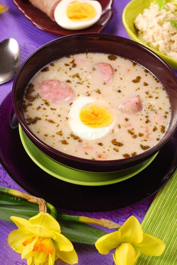 borscht Easter horseradish biel obraz royalty free