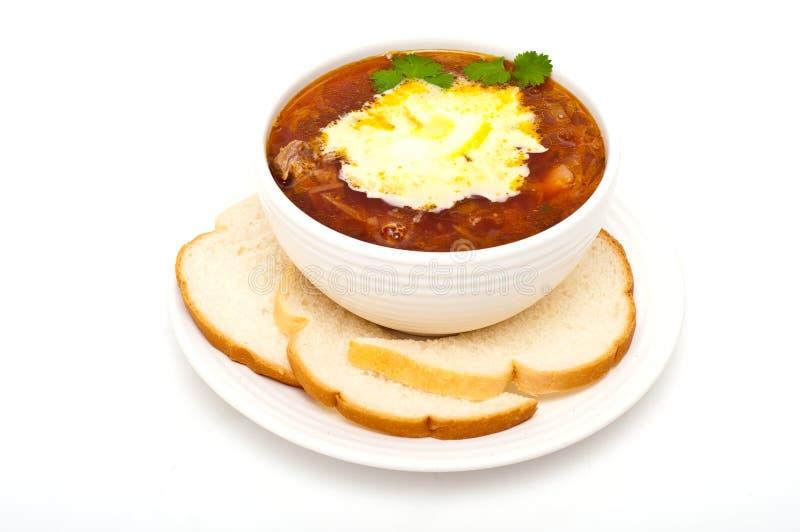 Borscht, Eastern European soup royalty free stock images