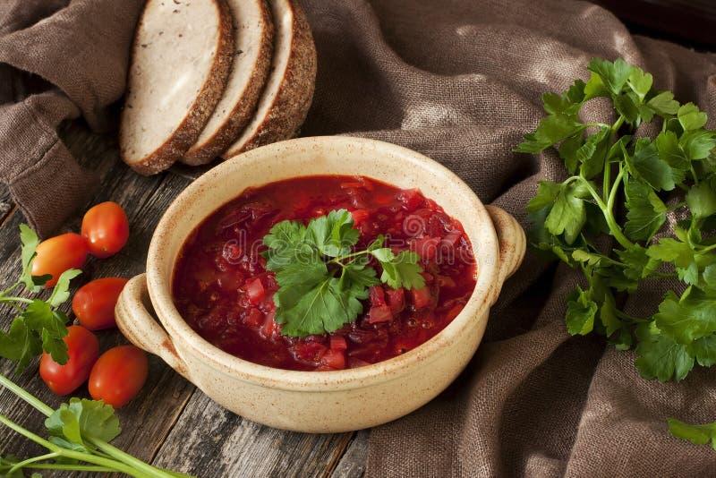 borscht rosso della minestra immagini stock