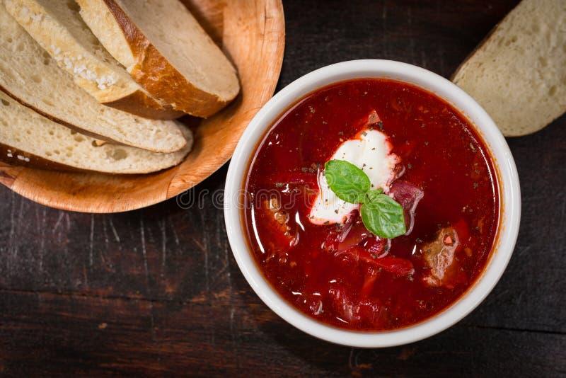 Borschtsuppe lizenzfreie stockbilder