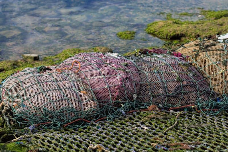 Borse della rete da pesca fotografia stock libera da diritti