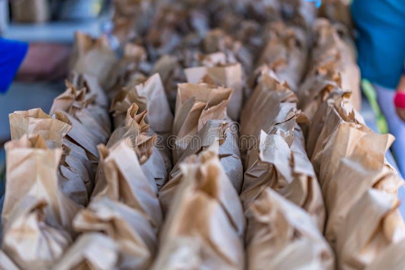 Borse di Brown delle arachidi immagine stock libera da diritti