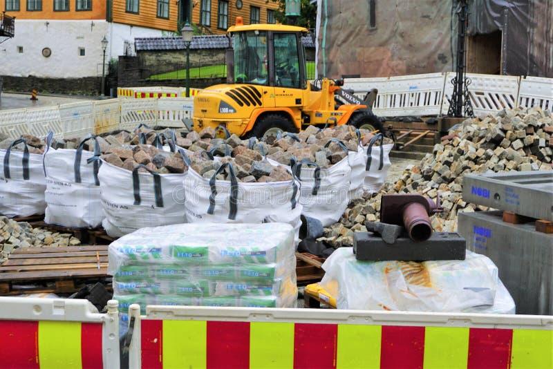 Borse di granito cubico al cantiere di Bergen immagine stock libera da diritti