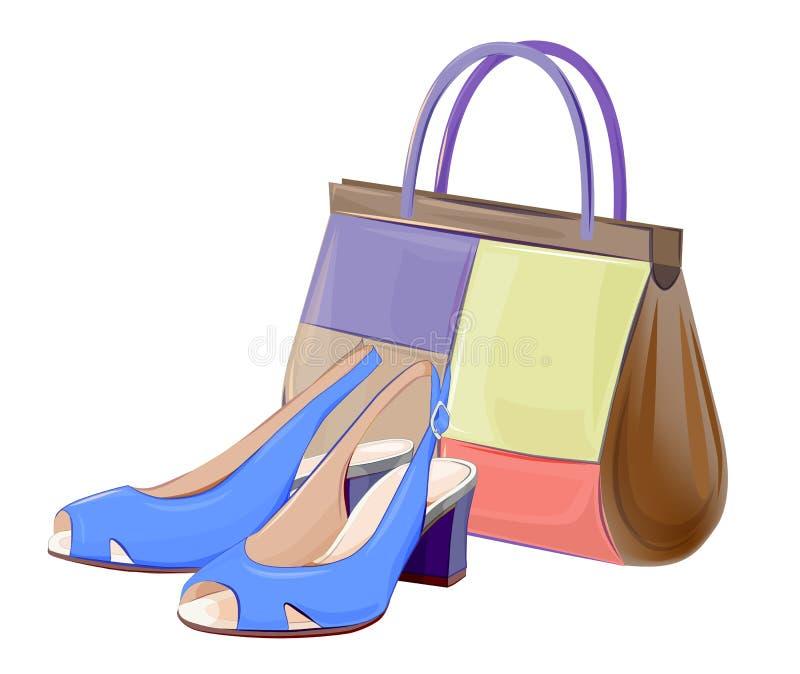 Borse e scarpe illustrazione vettoriale
