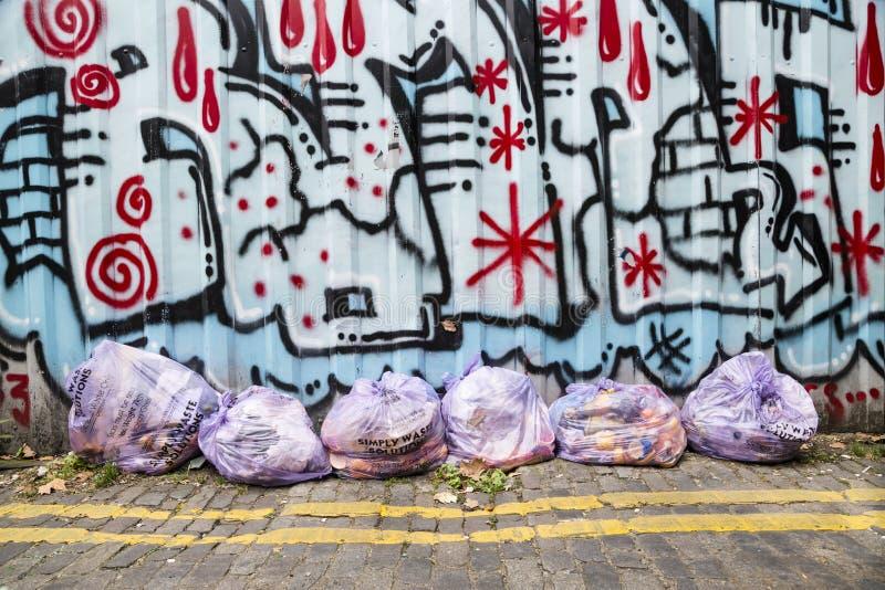 Borse residue della plastica immagine stock libera da diritti