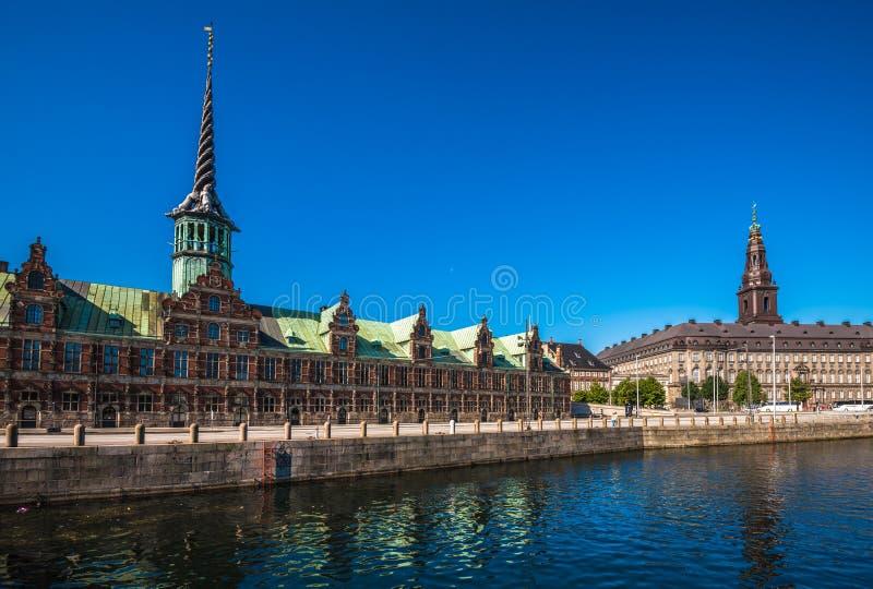 Borsen,老联交所大厦在哥本哈根,丹麦 图库摄影