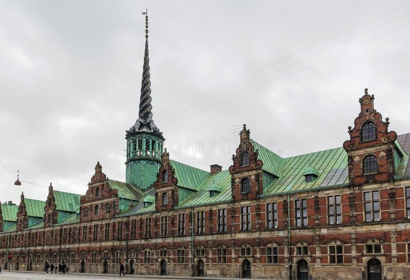 Borsen (το χρηματιστήριο), Κοπεγχάγη στοκ φωτογραφία με δικαίωμα ελεύθερης χρήσης