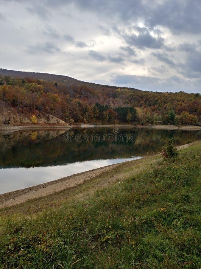 Borsko Jezero,在博尔,塞尔维亚附近的湖 免版税库存照片
