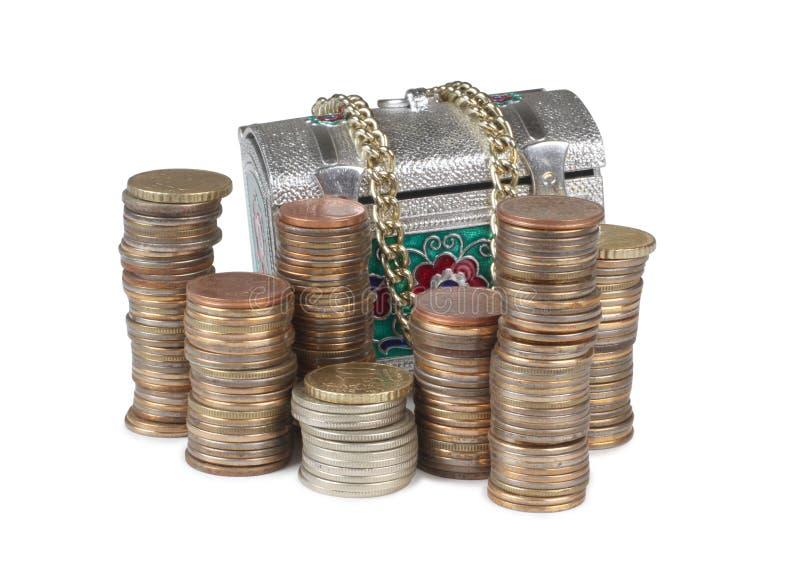 Borst en muntstuk vijf royalty-vrije stock afbeeldingen
