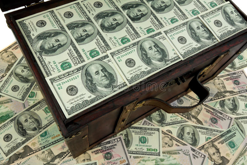 Borst met dollar stock fotografie